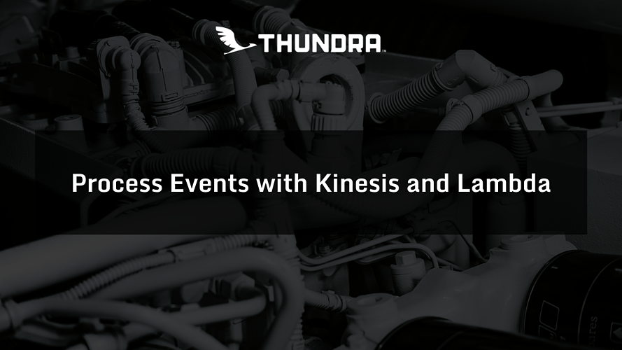 Process Events with Kinesis and Lambda