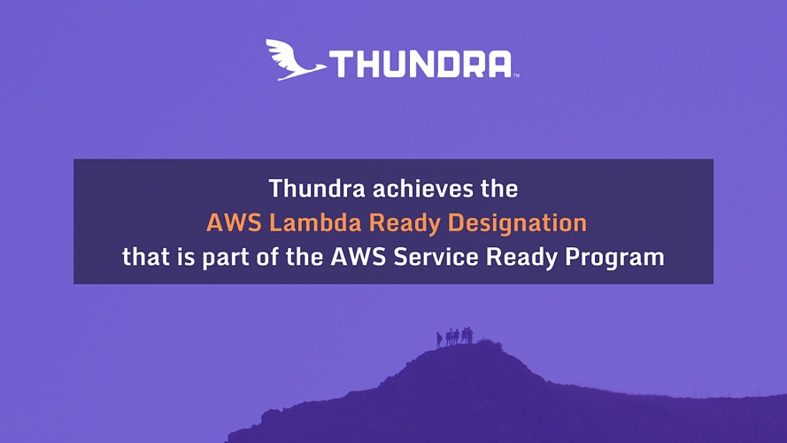 Thundra achieves the AWS Lambda Ready Designation that is part of the AWS Service Ready Program